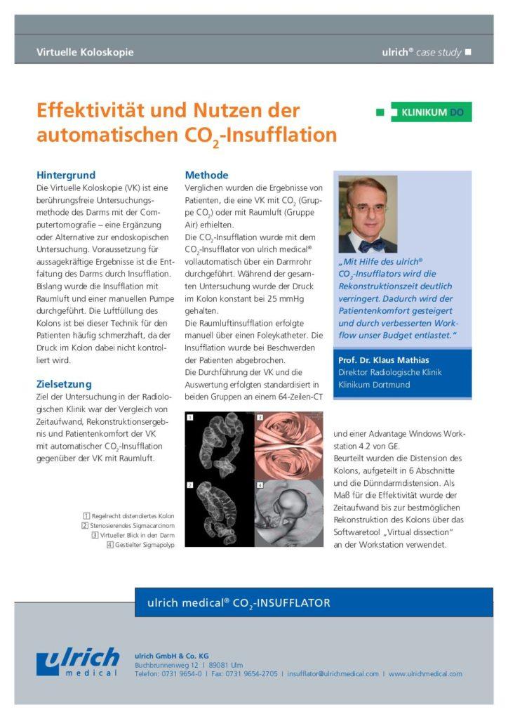 Case Study Effektivität und Nutzen der automatischen Insufflation