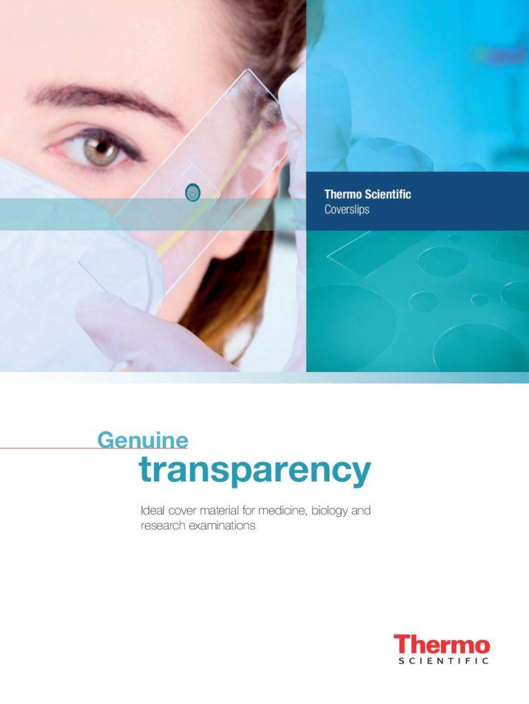 Broschüre Thermo Scientific Deckgläser