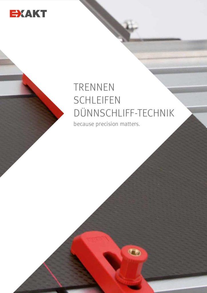 Broschüre Mikroschleifgerät EXAKT 400 CS