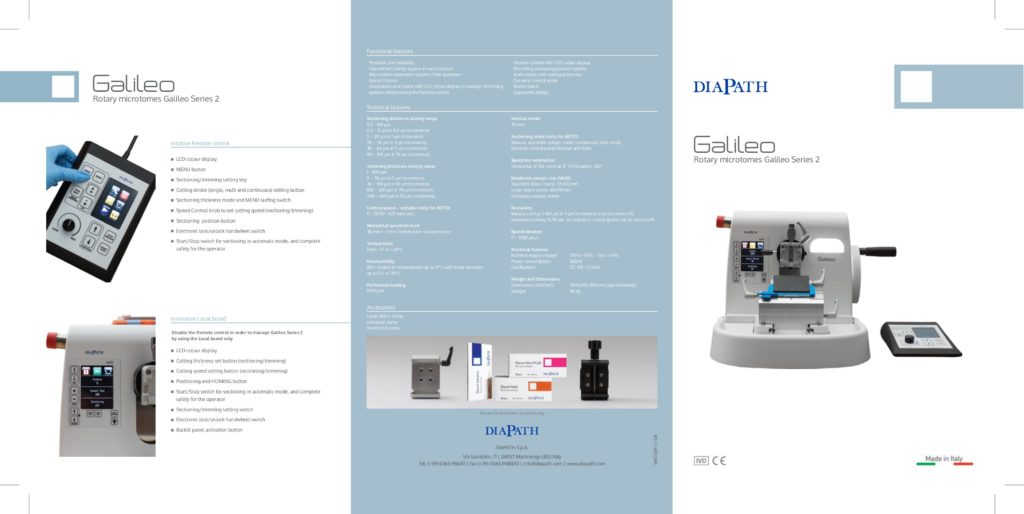 Broschüre Vollautomatisches Mikrotom Galileo