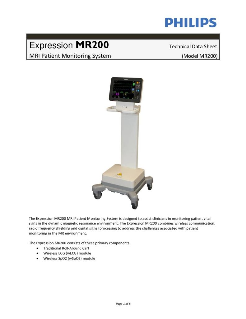 Expression MR 200 Datenblatt
