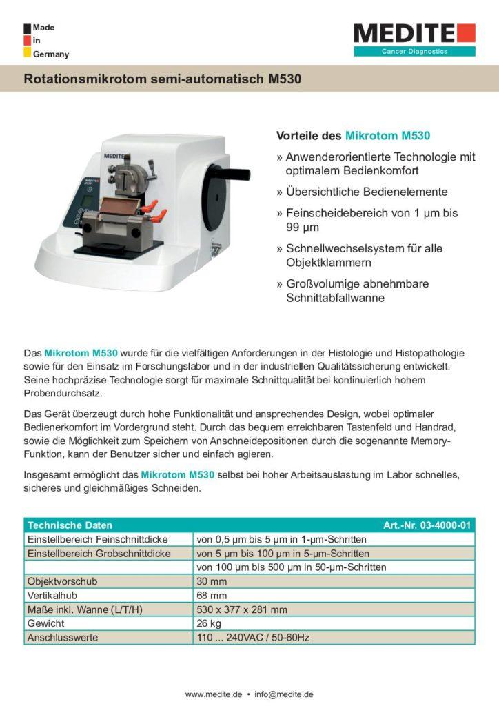 Broschüre Mikrotomie M530