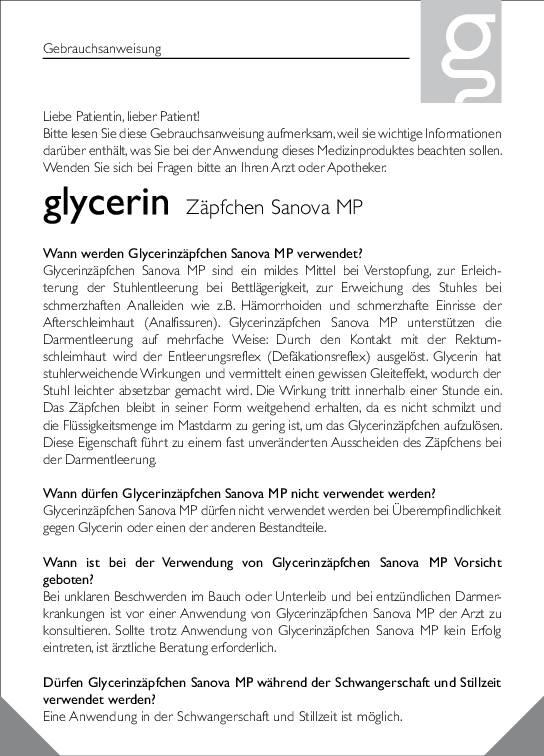 Sanova-Glycerinzaepfchen-GI