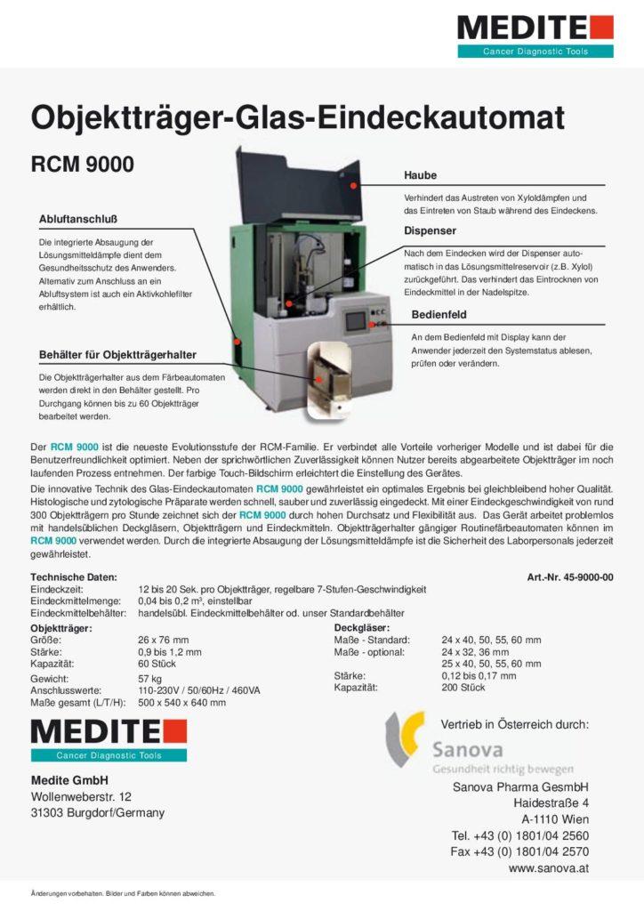 RCM 9000 Objektträger-Glas-Eindeckautomat