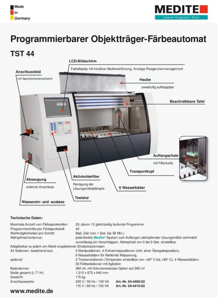 Broschüre TST 44 Programmierbarer Multifärber