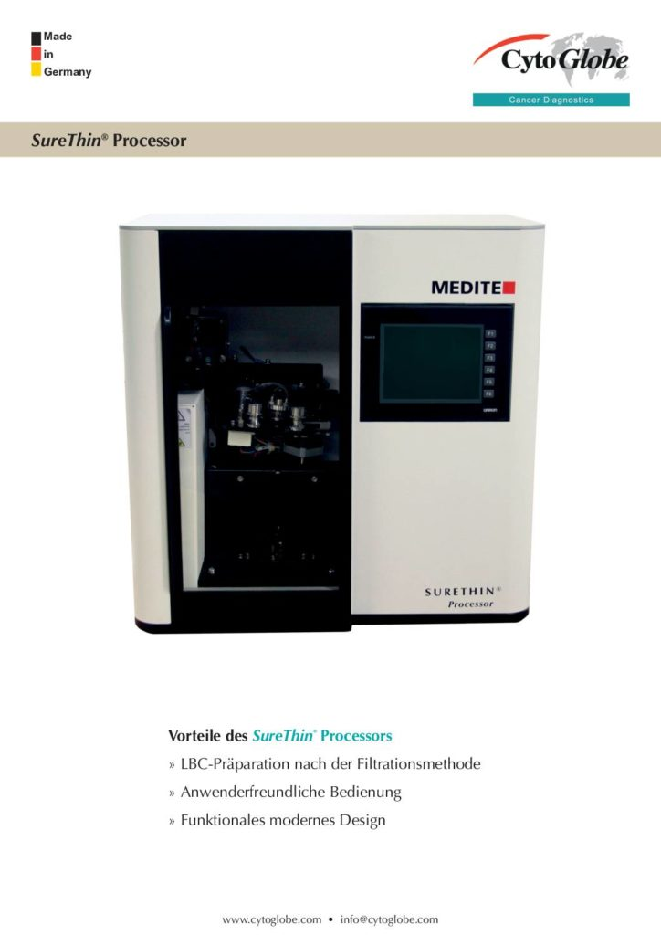 Broschüre Cellspin Zytozentrifuge und Verbrauchmaterial