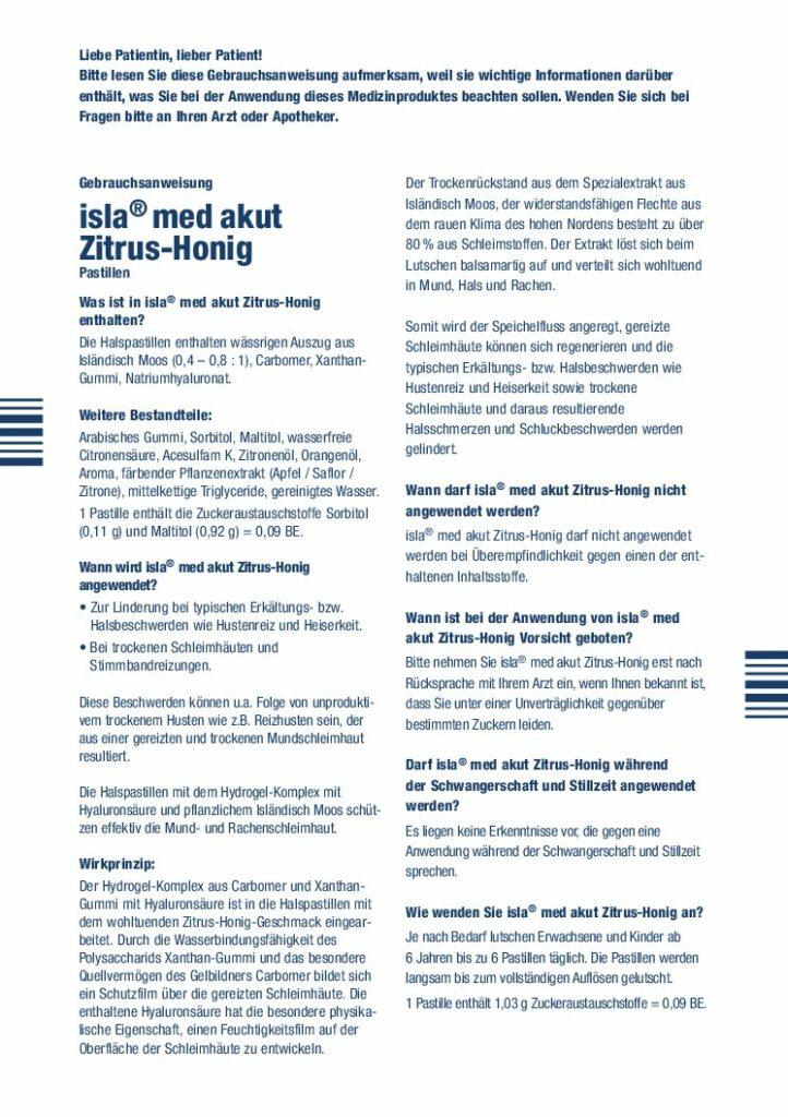isla med akut Zitrus-Honig PB1603301 web